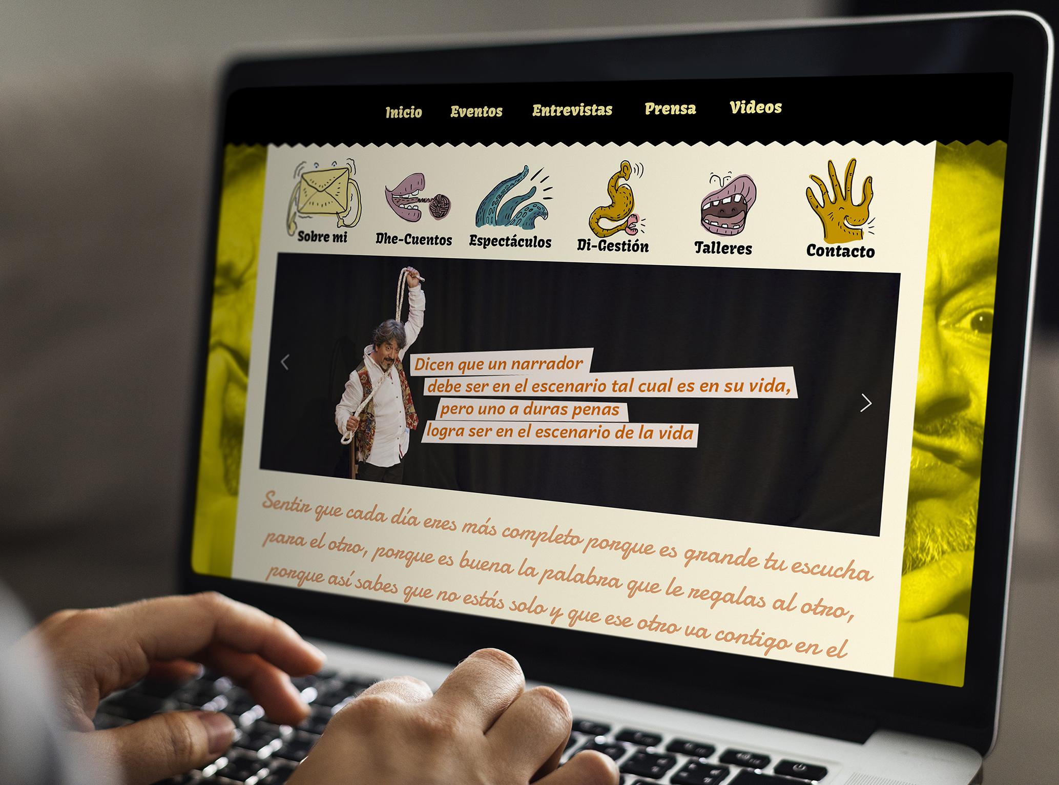 Sitio web dh cuento - Portafolio