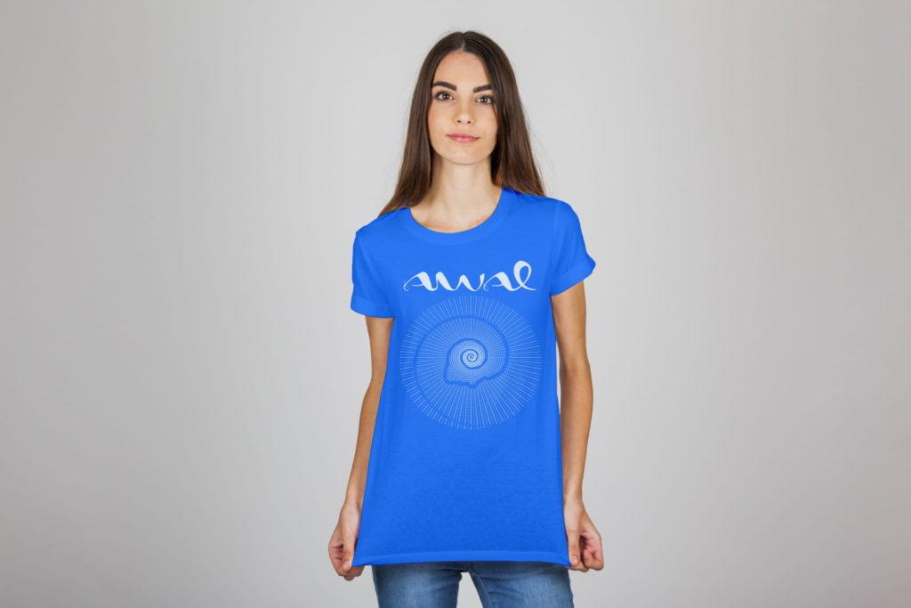 camiseta awal logotipo 1024x683 - Identidad visual para un equipo de psicoterapia Gestalt