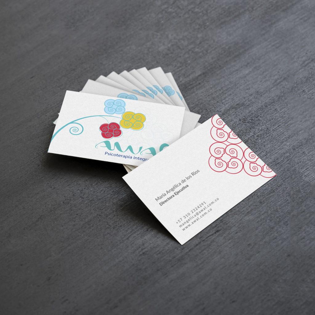 tarjeta visita awal volarconideas 1024x1024 - Identidad visual para un equipo de psicoterapia Gestalt
