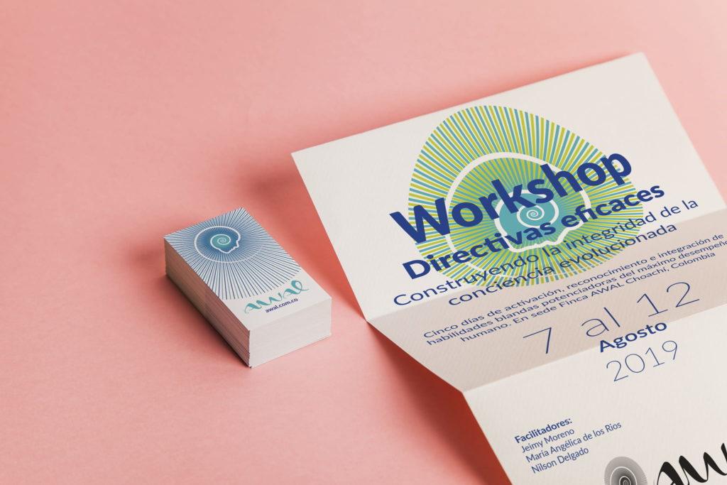 workshop awal tarjeta visita volarconideas 1024x683 - Identidad visual para un equipo de psicoterapia Gestalt