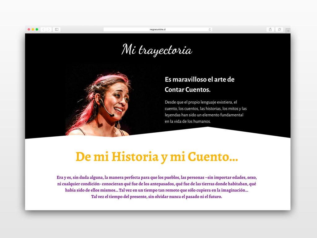 negra curiche mi trayectoria 1024x768 - Diseño Web Sandra Aravena