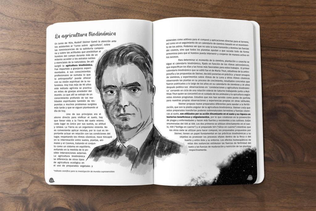 diseno agricultura biodinamica agenda el arca verde michael contreras cortes Rudolf Steiner 1024x683 - Agenda libro: Diseño, dirección de arte e ilustración
