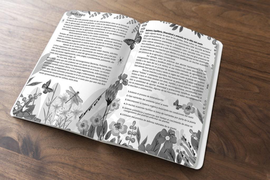 diseno agricultura biodinamica agenda el arca verde michael contreras cortes compost 1024x683 - Agenda libro: Diseño, dirección de arte e ilustración