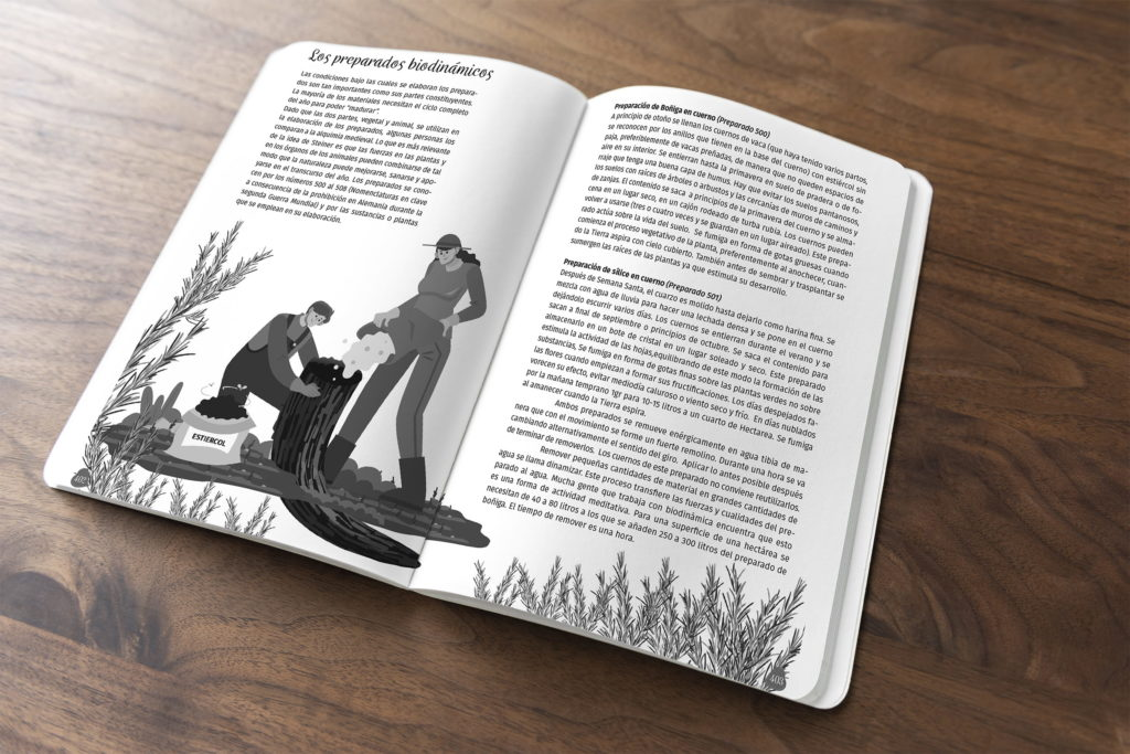 diseno agricultura biodinamica silice en cuerno agenda el arca verde michael contreras cortes Rudolf Steiner 1024x683 - Agenda libro: Diseño, dirección de arte e ilustración
