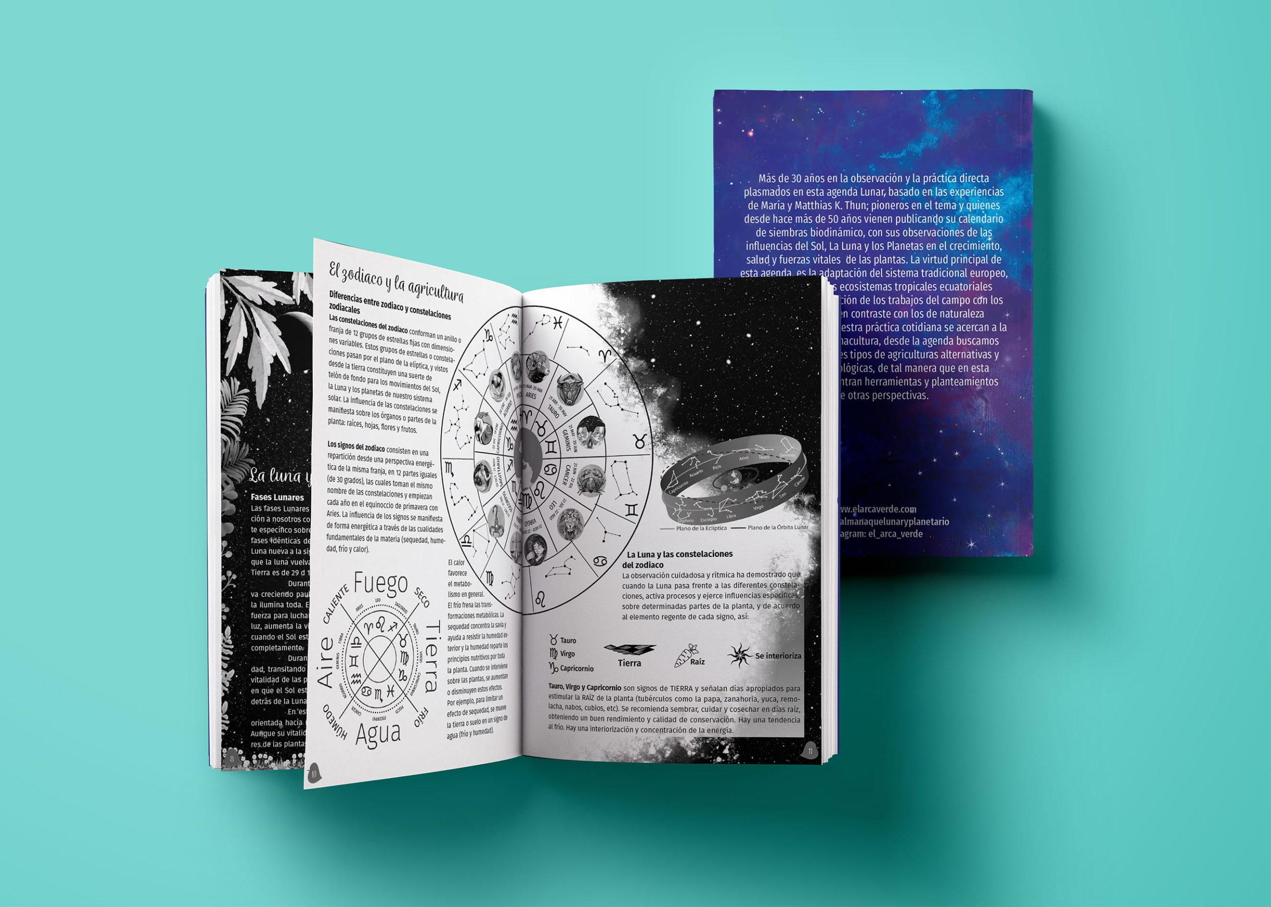 diseno ilustracion Libro agenda el arca verde pagina zodiaco michael contreras cortes scaled - Portafolio