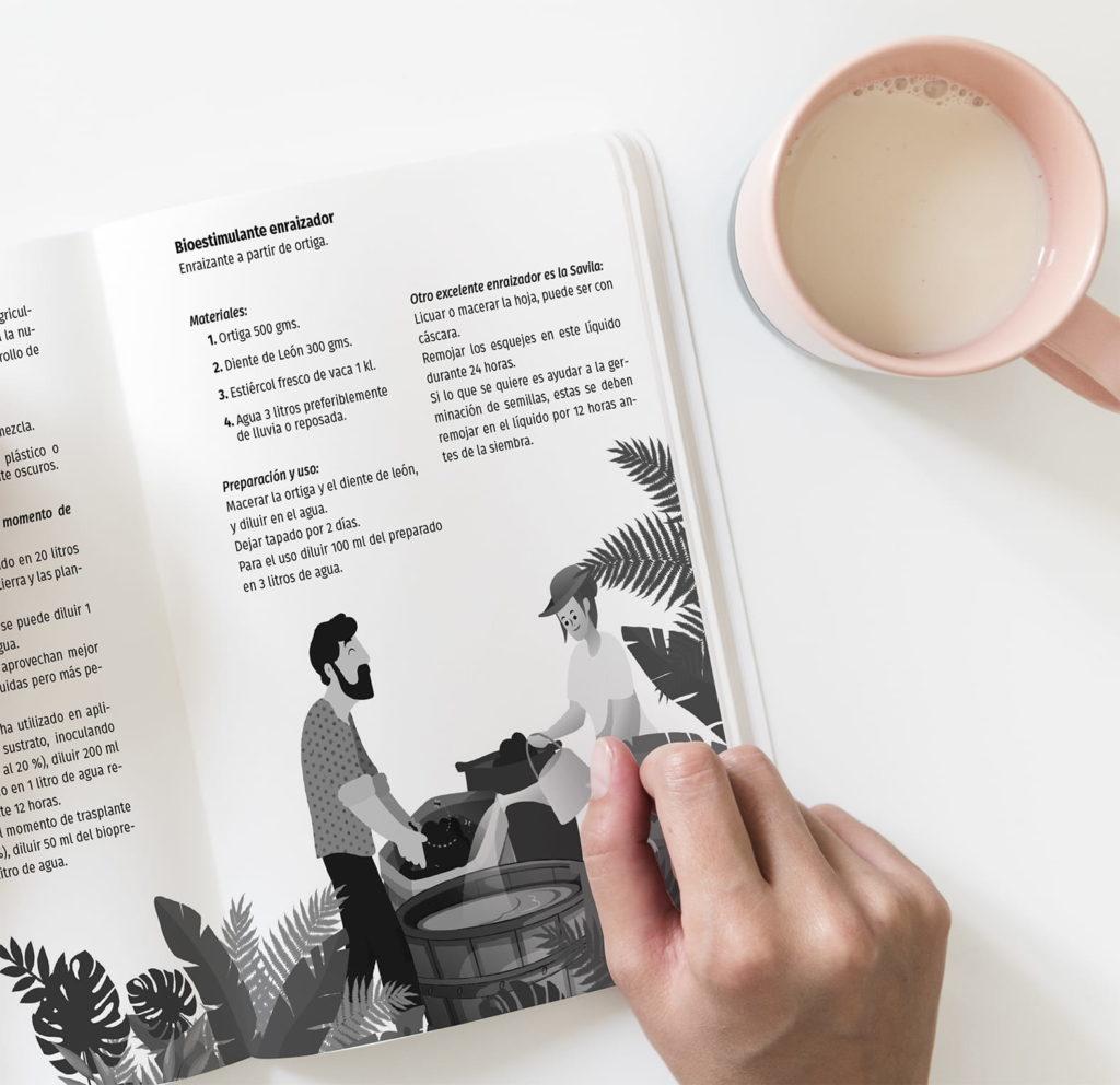 diseno ilustracion Libro pagina agenda el arca verde michael contreras cortes 1024x992 - Agenda libro: Diseño, dirección de arte e ilustración