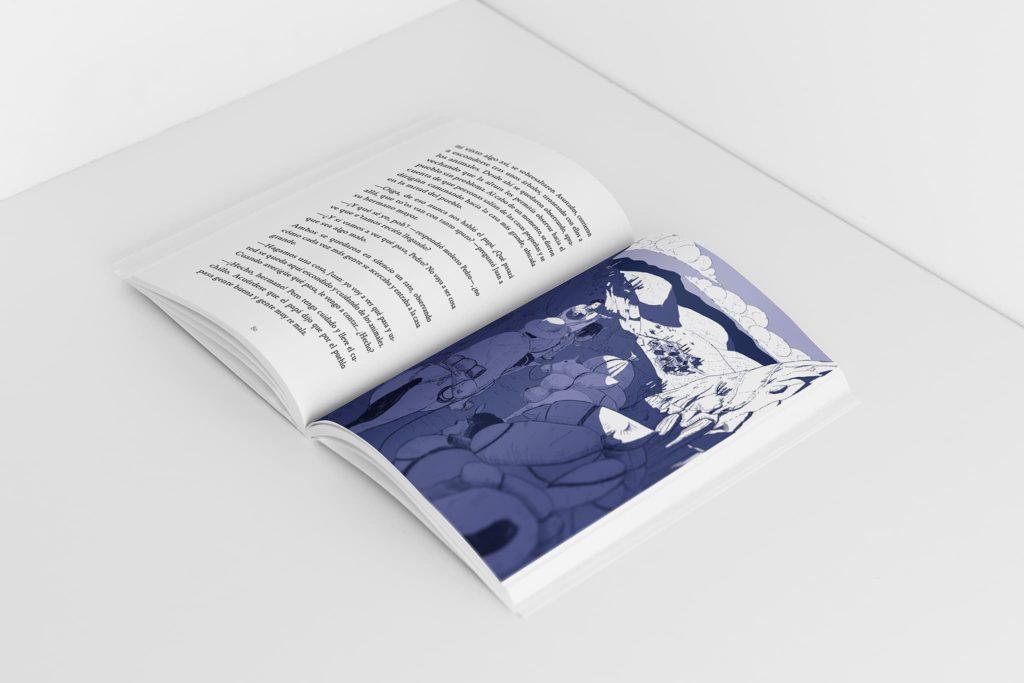 """ilustracion por michael contreras cortes del libro lugarenos y afuerinos de paty mix interior 1024x683 - Ilustración editorial para el libro """"Lugareños y afuerinos"""""""