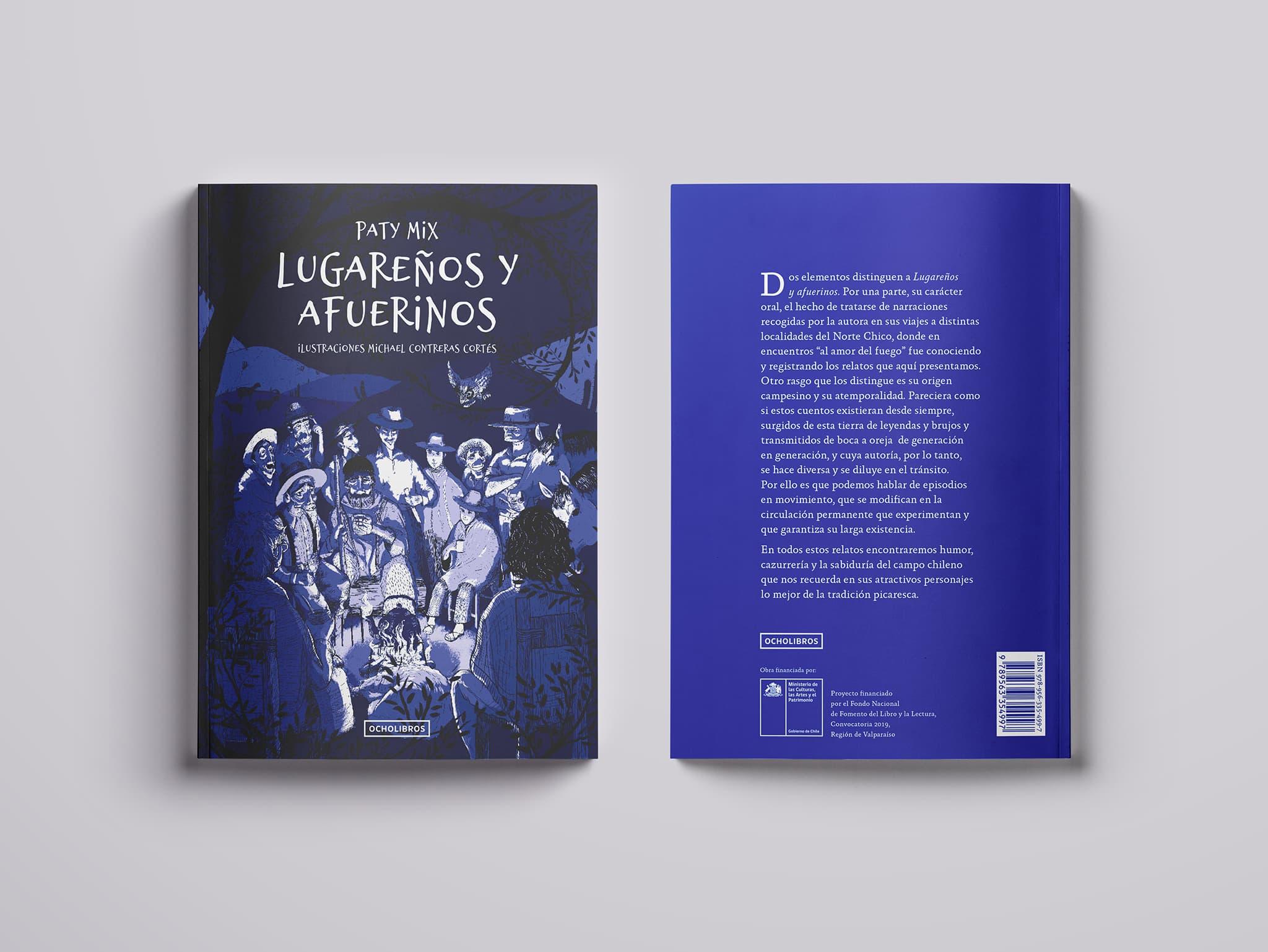 """Ilustración editorial para el libro """"Lugareños y afuerinos"""""""