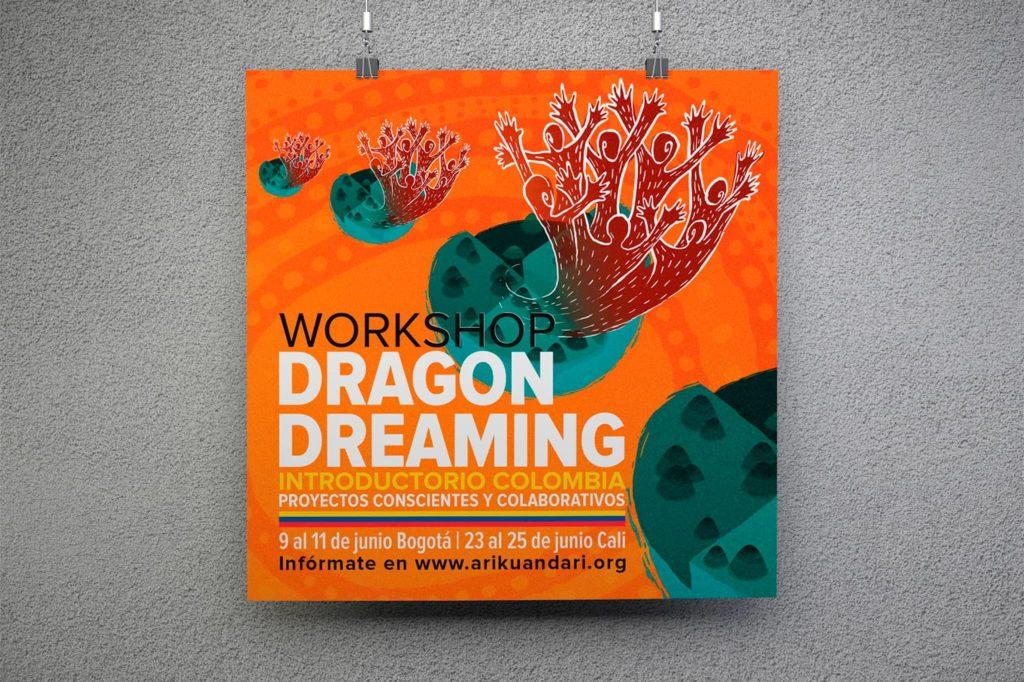 afiche dragon dreaming colombia michael contreras cortes 1024x682 - Afiches carteles diversos