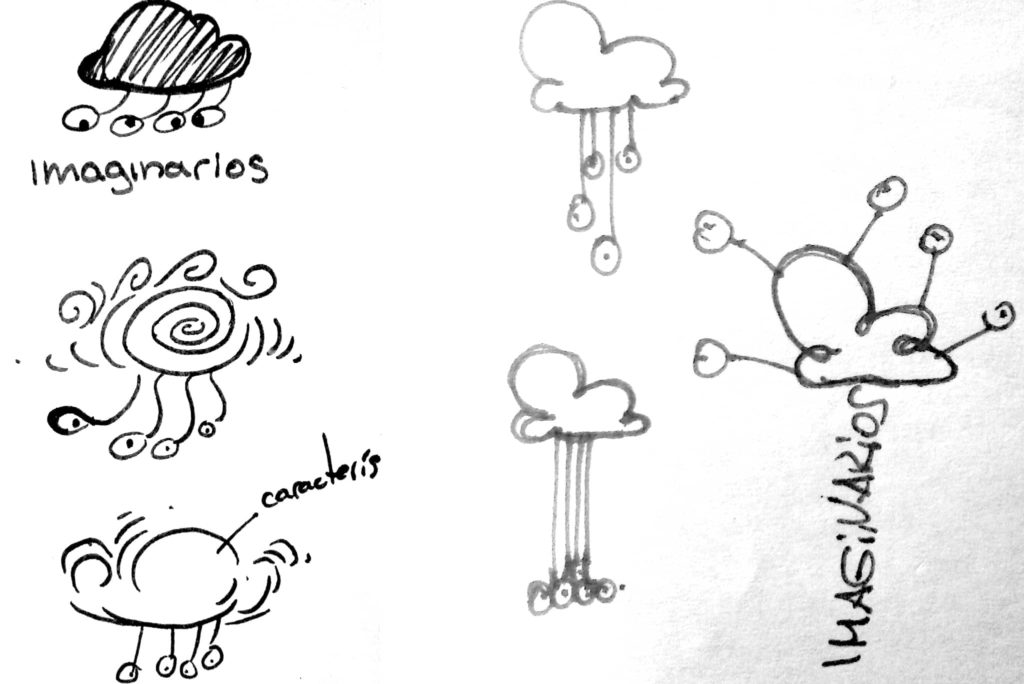 bocetos imaginarios 1024x684 - Rediseño identidad visual de Imaginarios
