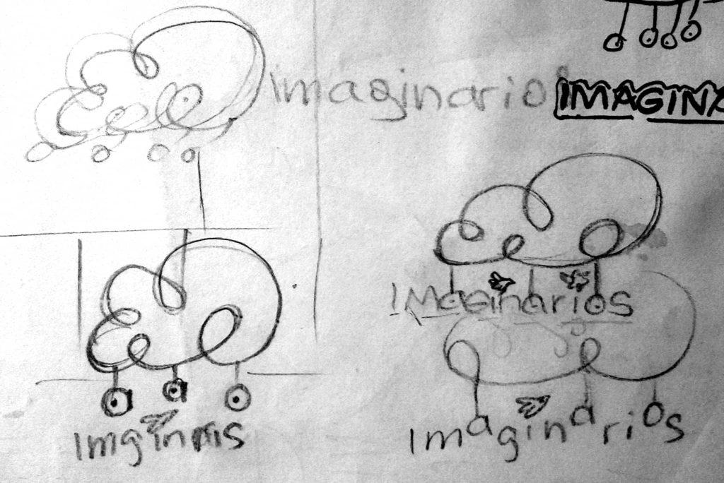 bocetos imaginarios2 1024x684 - Rediseño identidad visual de Imaginarios