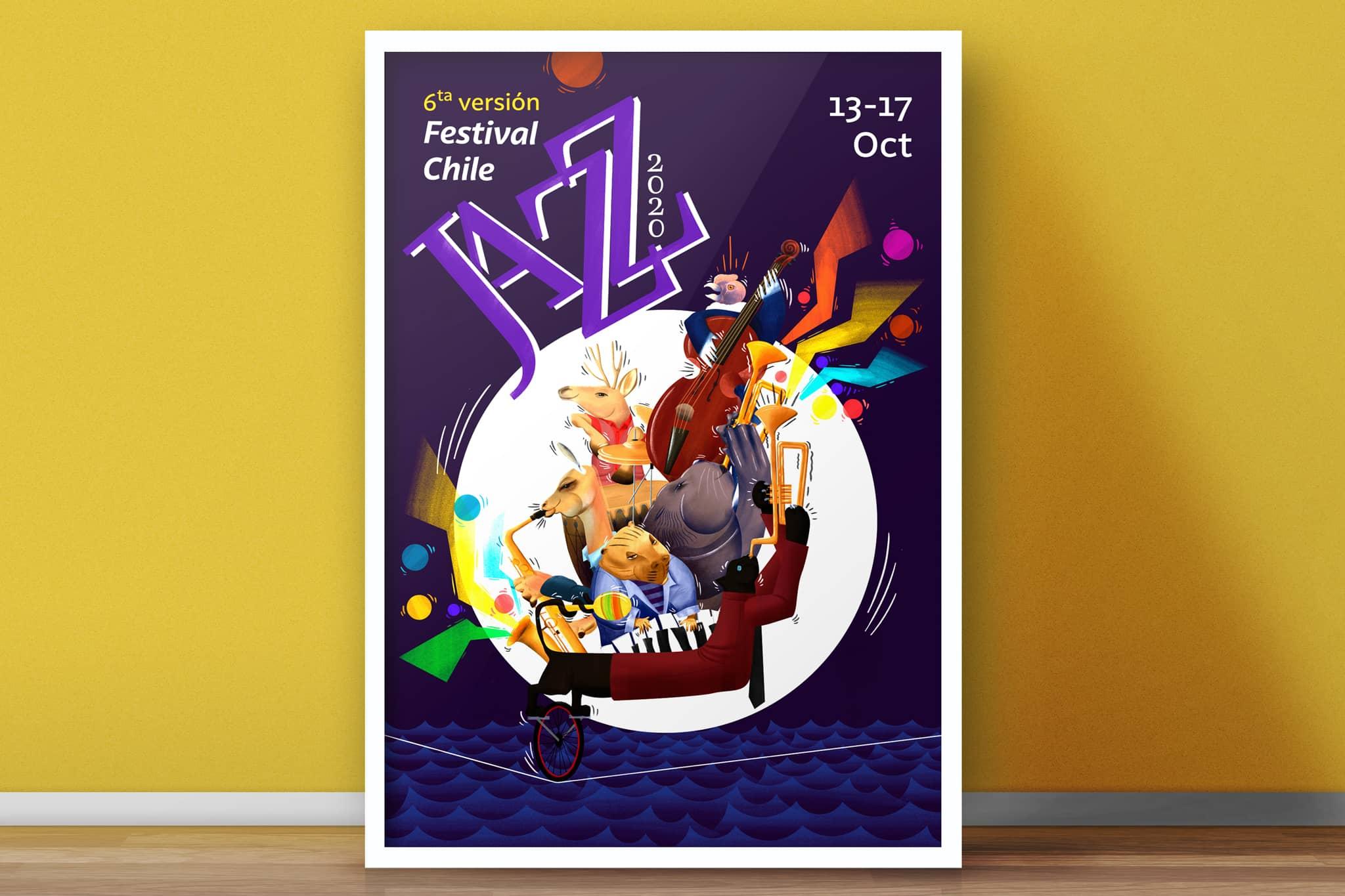 cartel afiche animales jazz - Portafolio