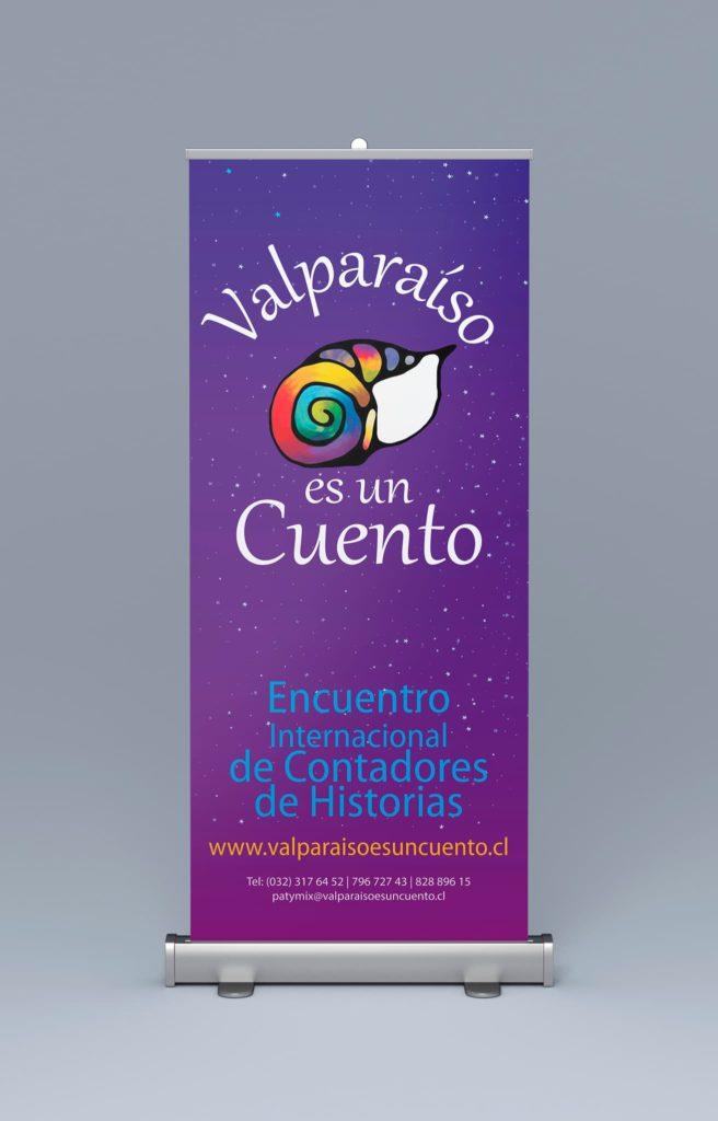 pendon valparaiso es un cuento 656x1024 - Afiches carteles diversos