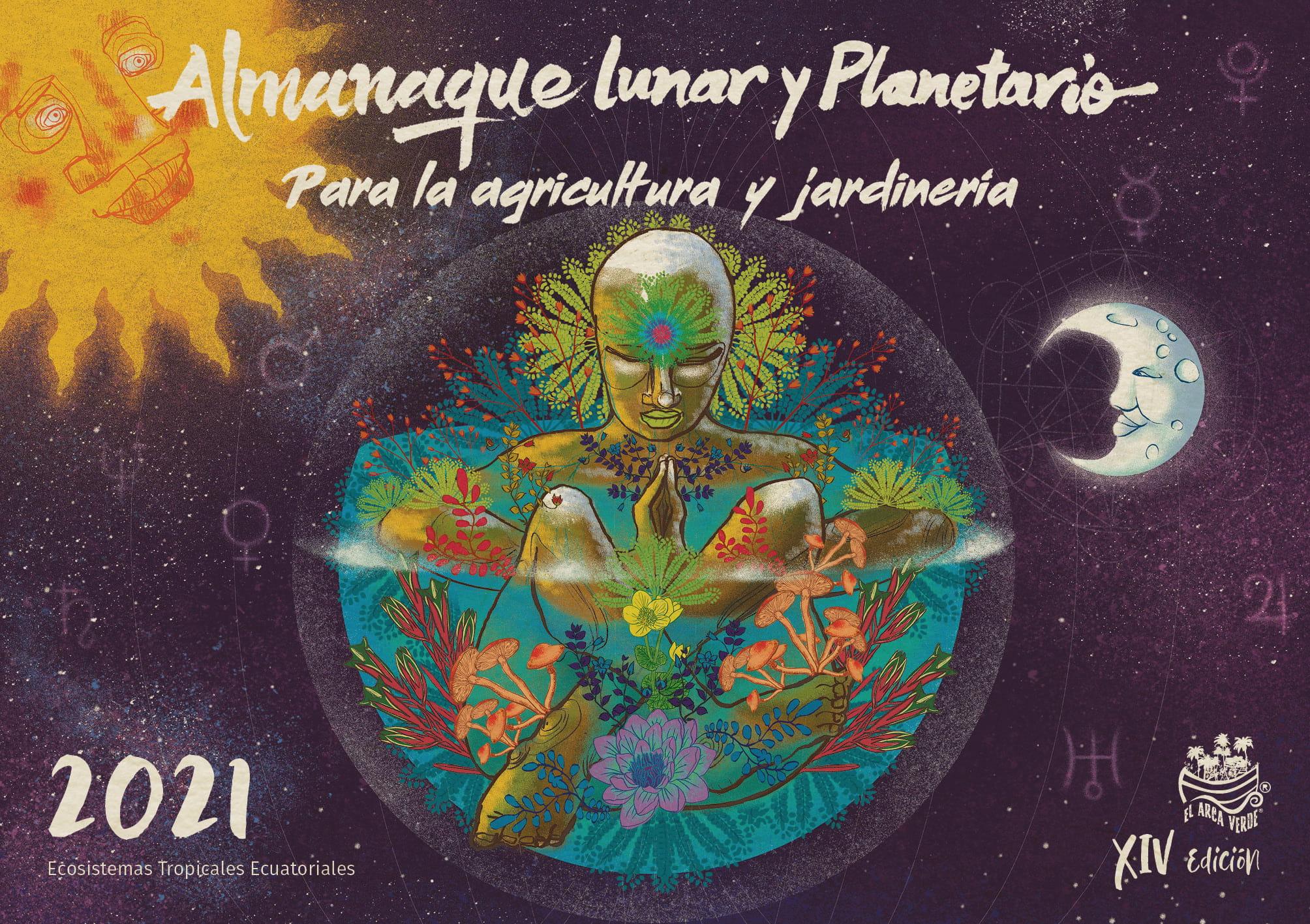 Portada almanaque lunary planetario 2021 - Portafolio