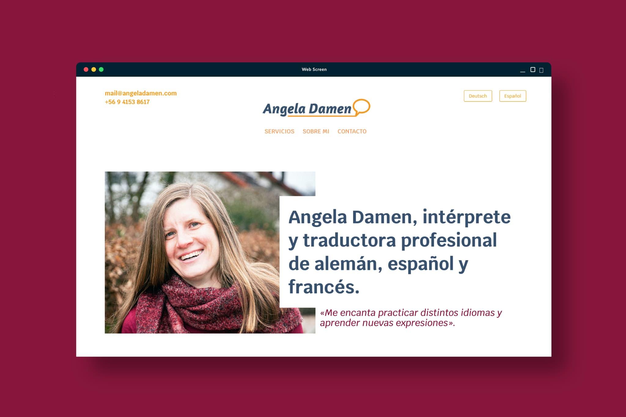 web angeladamen volarconideas - Portafolio