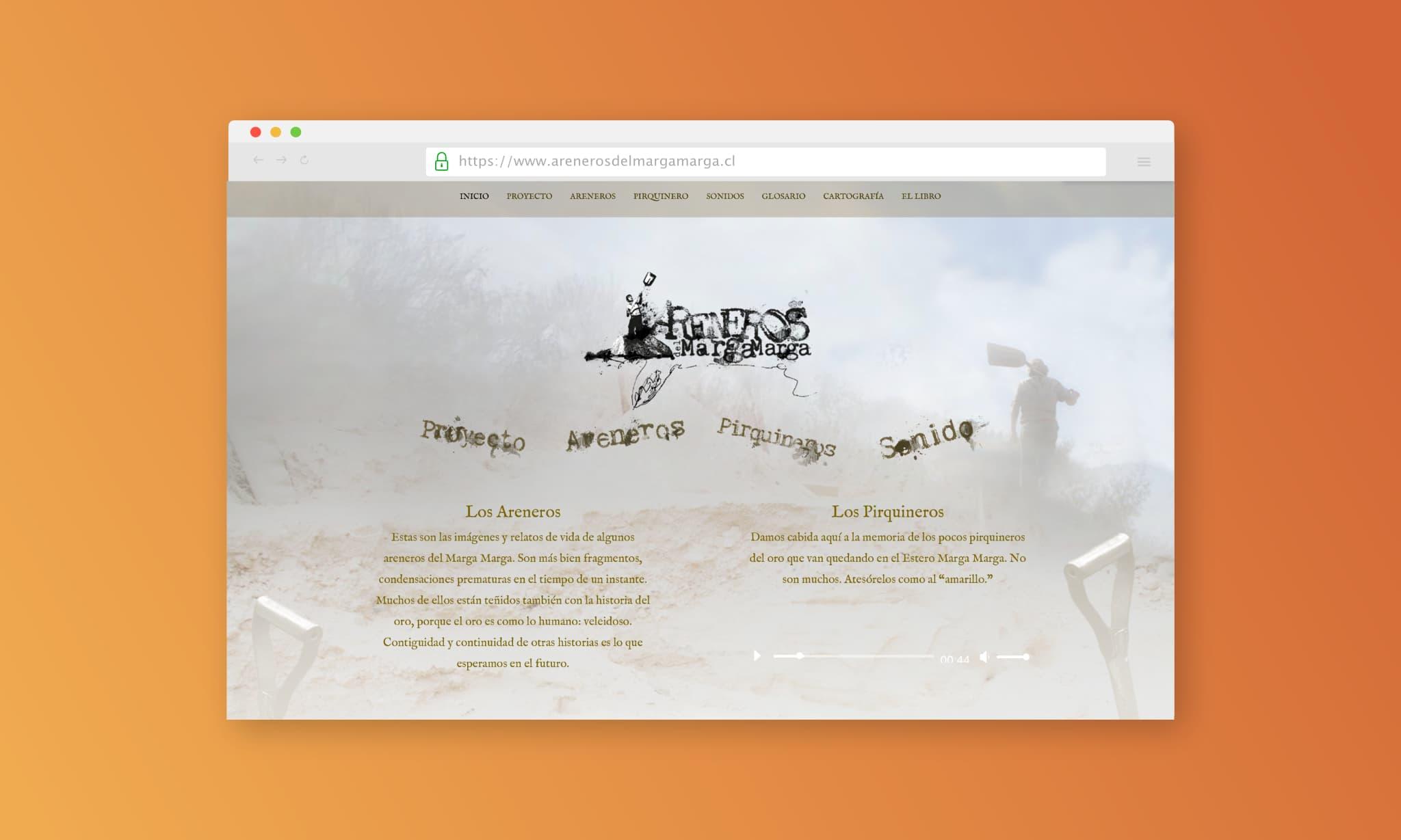 web areneros del margamarga - Portafolio